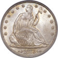 Seated Half Dollars, 1873 50C Arrows MS66 PCGS. CAC. WB-106....