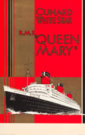 "Movie Posters:Miscellaneous, Cunard-White Star RMS Queen Mary Travel Poster (c.1936). Full-BleedPoster (25"" X 40"").. ..."