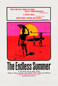 """The Endless Summer (Cinema 5, 1966). Day-Glo Silk Screen Poster (40"""" X 60"""")"""