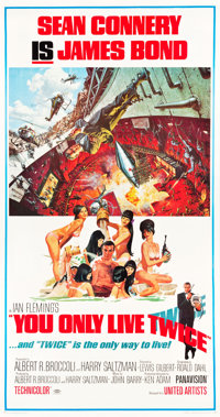 """You Only Live Twice (United Artists, 1967). Three Sheet (41.5"""" X 78.5"""")"""
