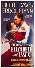 "Movie Posters:Swashbuckler, The Private Lives of Elizabeth and Essex (Warner Brothers, 1939).Three Sheet (41.5"" X 79.25"").. ..."