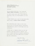 Music Memorabilia:Documents, Beatles Related - Brian Epstein Signed Letter to Selmur Productions / ABC Television Network, Mid 1960s....