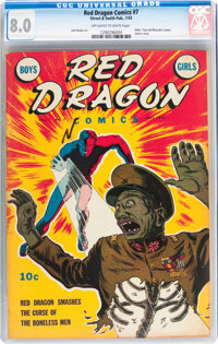 Red Dragon Comics #7 (Street & Smith, 1943) CGC VF 8.0 Off-white to white pages