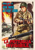 "Movie Posters:War, Back to Bataan (RKO, R-1960s). Italian 2 - Foglio (39.5"" X55.25"").. ..."
