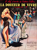 "Movie Posters:Foreign, La Dolce Vita (Cineriz, 1959). French Grande (46"" X 62.25"").. ..."