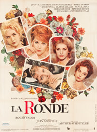 "Circle of Love (Consortium Pathe, 1965). French Grande (46"" X 63""). French title: La Ronde"