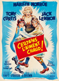 """Movie Posters:Comedy, Some Like It Hot (United Artists, 1959). French Grande (47"""" X 63"""")Style A.. ..."""
