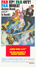 "Movie Posters:James Bond, On Her Majesty's Secret Service (United Artists, 1970). Three Sheet(41"" X 77"").. ..."