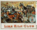 Miscellaneous:Ephemera, [Cigar Label]. [Reconstruction]. Original Racist Color LithographicCigar Label Entitled, Lime Kiln Club. . Roch...