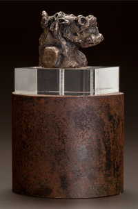 ANDRÉ MASSON (French, 1896-1987) Minotaure II (petit version) Bronze 2-1/2 x 2-1/4 x 2-1/2 inches