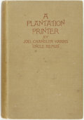 Books:Literature Pre-1900, Joel Chandler Harris. A Plantation Printer. The Adventures of aGeorgia Boy during the War. London: James R. Osgood,...