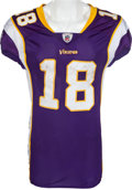 Football Collectibles:Uniforms, 2009 Sidney Rice Game Worn Unwashed Minnesota Vikings Jersey - Worn 11/15 Vs. Detroit. ...