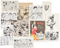 Football Collectibles:Others, 1940's-80's Murray Olderman Original Football Cartoon Production Artwork Lot of 12....