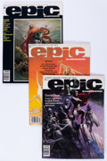 Magazines:Science-Fiction, Epic Illustrated Group (Marvel, 1980-84) Condition: Average NM-....(Total: 10 Comic Books)