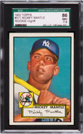 "Baseball Cards:Singles (1950-1959), 1952 Topps Mickey Mantle #311 SGC 86 NM+ 7.5 - From ""The Find."" ..."