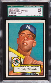 """1952 Topps Mickey Mantle #311 SGC 86 NM+ 7.5 - From """"The Find."""""""