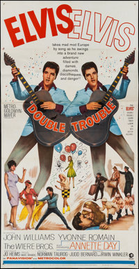 "Double Trouble (MGM, 1967). Three Sheet (41"" X 78""). Elvis Presley"
