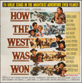 """Movie Posters:Western, How the West was Won (MGM, 1963). Six Sheet (83"""" X 84.5""""). Western.. ..."""