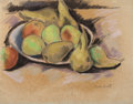 Fine Art - Work on Paper:Drawing, MARSDEN HARTLEY (American, 1878-1943). Pears and Apples,circa 1918. Pastel on paper. 15 x 19 inches (38.1 x 48.3 cm). S...