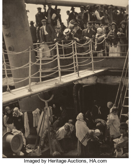 ALFRED STIEGLITZ (American, 1864-1946) The Steerage, 1907 Photogravure on vellum, printed 1915 12-5/8 x 10-1/4 inches...