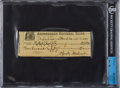 Baseball Collectibles:Others, 1925 Christy Mathewson Signed Check....