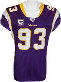 Football Collectibles:Uniforms, 2009 Kevin Williams Game Worn Unwashed Minnesota Vikings Jersey - Worn 11/15 Vs. Detroit....