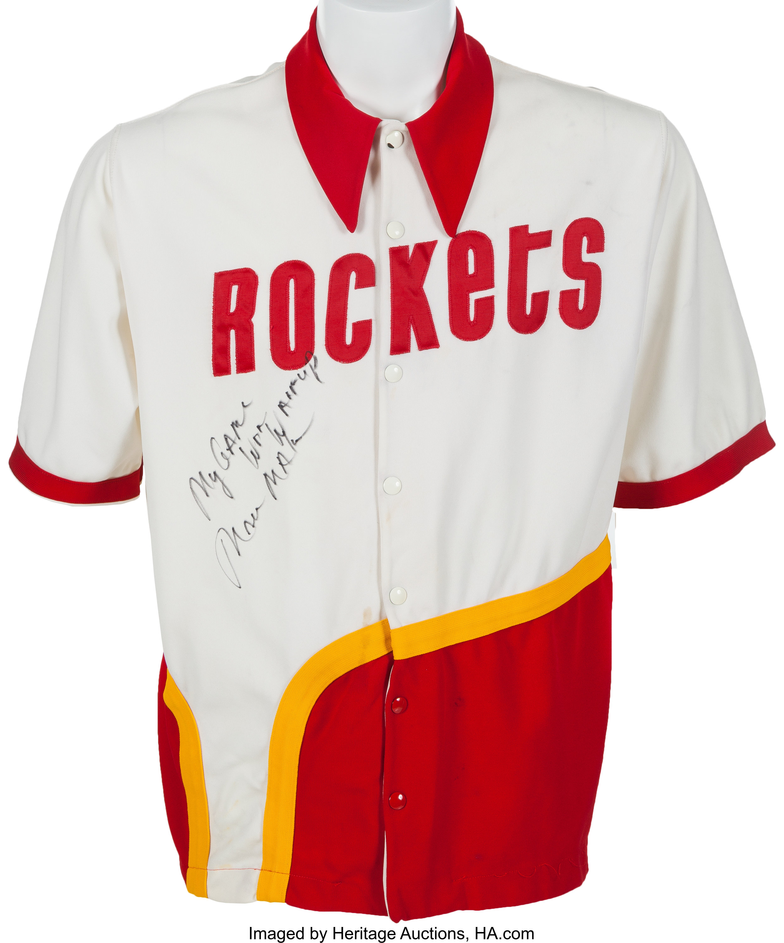 hot sale online dcefe 65f86 Circa 1979 Moses Malone Game Worn Houston Rockets Shooting ...