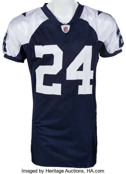 reputable site d6bb0 7ad2b 2009 Marion Barber Game Worn Dallas Cowboys Throwback Jersey ...