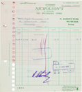 Music Memorabilia:Autographs and Signed Items, Beatles Ringo Starr Signed Document, 1967....