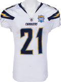 Football Collectibles:Uniforms, 2009 LaDainian Tomlinson Game Worn, Unwashed Jersey From 150th Touchdown Milestone Game - With Signed Photomatch!...