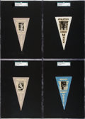Baseball Cards:Sets, 1916 BF2 Ferguson Bakery Pennants Collection (19 Different) With Mack, and Johnson. ...