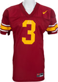 Football Collectibles:Uniforms, 2001 Carson Palmer Game Worn USC Trojans Jersey. ...