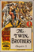 "Movie Posters:Serial, The Desert Hawk (Columbia, 1944). One Sheet (27"" X 41"") Chapter 1 -- ""The Twin Brothers."" Serial.. ..."
