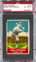 Baseball Cards:Singles (1930-1939), 1933 Delong Riggs Stephenson #15 PSA EX-MT 6....