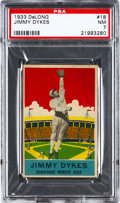 Baseball Cards:Singles (1930-1939), 1933 Delong Jimmy Dykes #18 PSA NM 7....