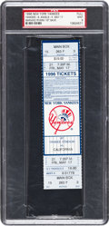 Autographs:Others, 1996 Mariano Rivera First Career Save Full Ticket, PSA Mint 9....