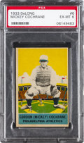 Baseball Cards:Singles (1930-1939), 1933 Delong Mickey Cochrane #6 PSA EX-MT 6....