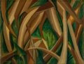 Fine Art - Painting, American:Modern  (1900 1949)  , ARNOLD AARON FRIEDMAN (American, 1874-1946). Untitled (LeafAbstraction I), 1921. Oil on canvas. 20 x 26 inches (50.8 x ...