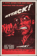 "Movie Posters:War, Attack! (United Artists, 1956). One Sheet (27"" X 41"") Style B.War.. ..."
