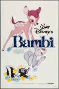 "Movie Posters:Animation, Bambi (Buena Vista, R-1982). One Sheet (27"" X 41""). Animation.. ..."