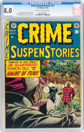 Golden Age (1938-1955):Crime, Crime SuspenStories #12 (EC, 1952) CGC VF 8.0 Off-white to white pages....