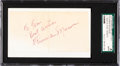 Baseball Collectibles:Others, 1970's Thurman Munson Signed Cut. ...