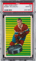 Hockey Cards:Singles (1960-1969), 1963 Parkhurst Bobby Rousseau #94 PSA Gem Mint 10 - Pop Four....