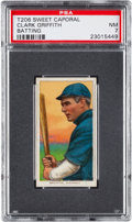 Baseball Cards:Singles (Pre-1930), 1909-11 T206 Sweet Caporal Clark Griffith, Batting PSA NM 7 - With Factory 42 Overprint....