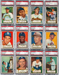 Baseball Cards:Lots, 1952 Topps Baseball Low Numbers PSA EX-MT 6 Collection (31). ...