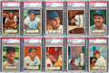 Baseball Cards:Lots, 1952 Topps Baseball Low Numbers PSA NM 7 Collection (10). ...