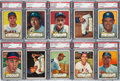 Baseball Cards:Lots, 1952 Topps Baseball Low Numbers PSA NM 7 Collection (11). ...