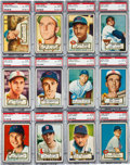 Baseball Cards:Lots, 1952 Topps Baseball Middle Series PSA EX-MT 6 Collection (51). ...