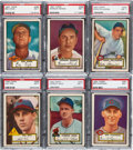 Baseball Cards:Lots, 1952 Topps Baseball High Numbers PSA NM 7 Collection (6). ...