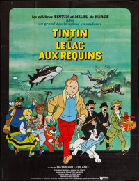 "Tintin and the Lake of Sharks (United Artists, 1972). French Grande (47"" X 63""). Animation"